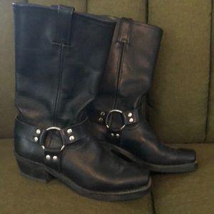 Frye women's harness boots.
